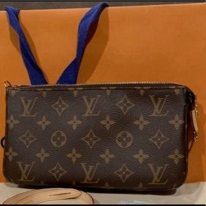 Authentic Louis Vuitton Pochette in Monogram